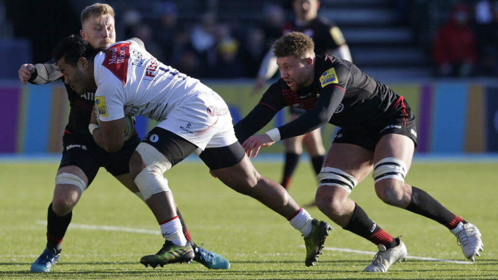 Terrific Tigers tame Sarries to close in on top four