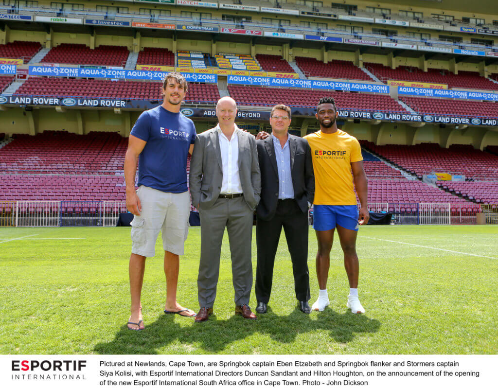 Esportif International in Union with South Africa's leading rugby agency
