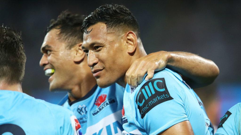 Folau equals record as Waratahs end Crusaders streak