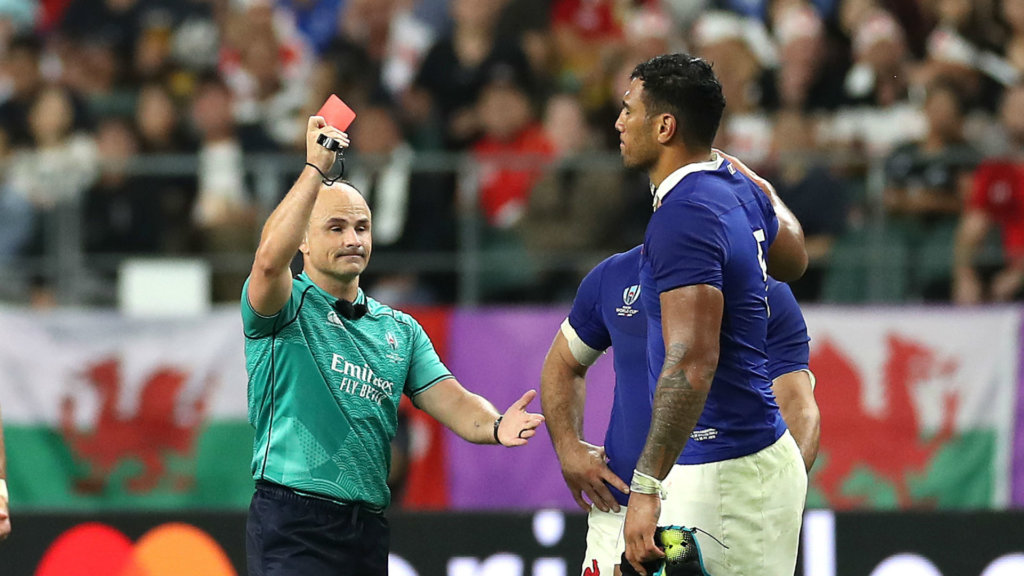 Rugby World Cup 2019: Referee Peyper omitted from semi-finals after fan photo