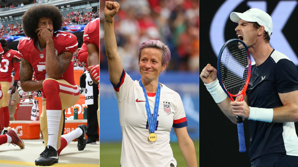 Kaepernick, Rapinoe, Murray – The most influential sports people of the decade