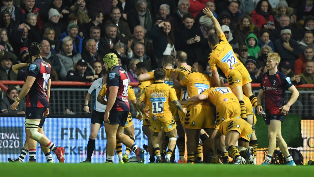 Bristol 21-26 Wasps: Carr's late try seals surprise