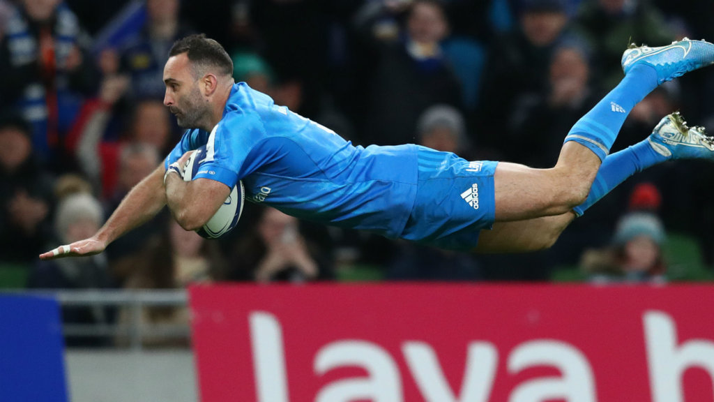 Leinster stay perfect with Lyon thrashing, Racing leave it late to reach last eight