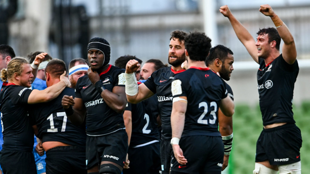 Saracens secure 'another week together' as Racing overcome Clermont