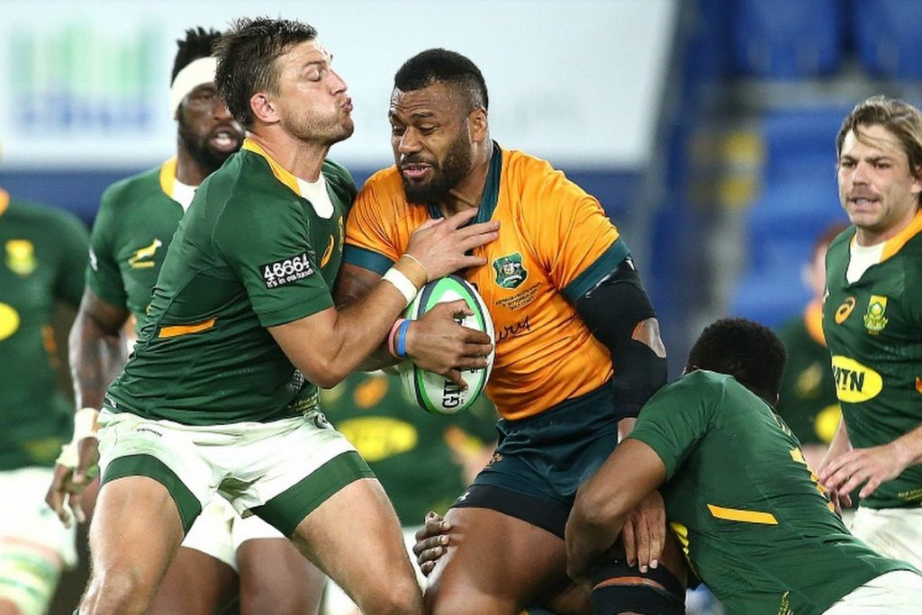 The Springboks real rugby rivalry is green versus gold